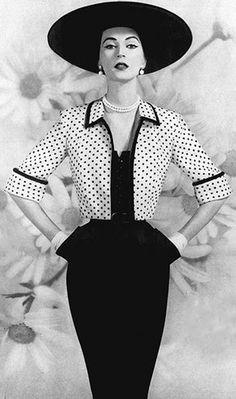 Dovima, Vogue, 1950s