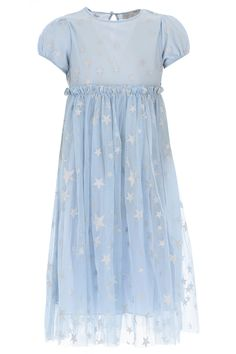 Blue Dresses, Girls Dresses, Stella Mccartney Kids, Fashion Details, Dream Wedding, Girl Outfits, Tulle, Short Sleeves, Casual
