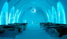Ice Hotel Staying at Ice Hotel is an absolutely unique experience. The hotel, located in Jukkasjärvi, Sweden is the oldest and the lar. Places Around The World, Oh The Places You'll Go, Places To Visit, Around The Worlds, Vacation Destinations, Dream Vacations, Vacation Spots, Holiday Destinations, Ice Hotel Sweden