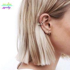 2016 charme Punk gothique Gold Tone boule boucles d'oreilles pour les femmes tous les jours hommes boucles d'oreilles Hoop Huggie boucles d'oreilles hommes Boucle d'oreille