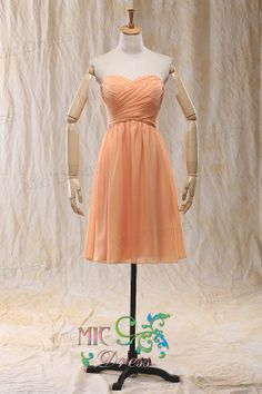 Sweetheart chiffon Pleated lace up back prom dress by MicDress