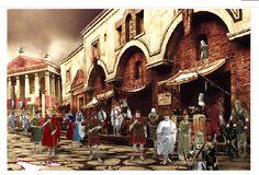 La sociedad romana: Aspectos más relevantes en la vida social de la República romana. via @miaspasia Haz click en la imagen y luego en los personajes que se iluminan al pasar el ratón.
