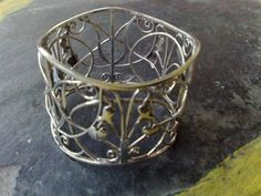 925 Sterling Silver Ornamental Bangle with Wire by park2park925, $155.00