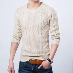 2016 recién llegado de estilo de moda Sweater Pullover hombres a estrenar caliente del invierno que hace punto de manga larga de cuello redondo prendas de punto para hombre suéteres