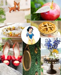Snow White from Snow White and the Seven Dwarfs — Vintage and Whimsical | What Your Favorite Disney Princess Says About Your Wedding Style | https://www.theknot.com/content/what-your-favorite-disney-princess-says-about-your-wedding-style