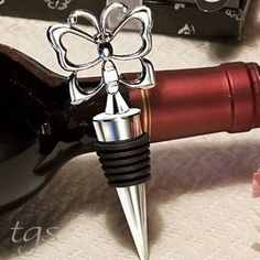 Metal Butterfly Wine Bottle Stopper~Novelty Barware~Bar