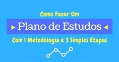 Aprenda como fazer um plano de estudos perfeito para você (com horário flexivel). A metodologia que utilizamos é fantástica!!