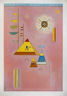 Wassily Kandinsky - Pink  Sweet - I can't explain it... it just makes me feel settled.