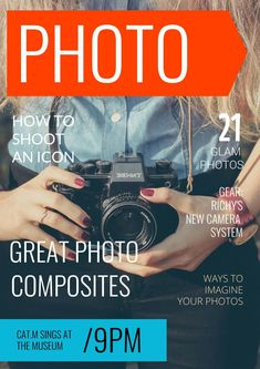 Make a modern photography magazine cover template that will stand out, starting from this ready-made photography design Modern Photography, Photography Magazine, Great Photos, Your Photos, Magazine Maker, Magazine Cover Template, Graphic Design Tips, Digital Magazine, Templates