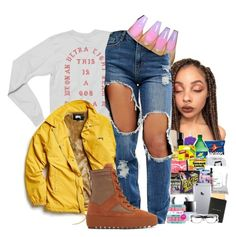 """""""I Got Fake People Showing Fake Love To Me"""" by denise-loveable-bray ❤ liked on Polyvore featuring Stussy, Missguided and adidas"""