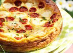 Quiche sans pâte au chèvre et à la tomate WW, recette d'une savoureuse et délicieuse quiche, facile à préparer pour un repas accompagné d'une bonne salade.