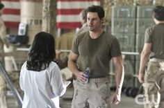 Beauty and the Beast -- Trapped -- Pictured (L-R): Khaira Ledeyo as Dr. Chandler and Jay Ryan as Vincent -- Image Number: BB107a_0049.jpg -- Photo: Ben Mark Holzberg/The CW --  2012 The CW Network, LLC. All rights reserved.