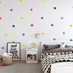 Polka Dot Wall Decals, Polka Dot Walls, Wall Stickers, Polka Dots, Polka Dot Nursery, Kids Wall Decals, Girls Bedroom, Bedroom Wall, Bedroom Decor