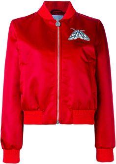 Carven embroidered satin bomber jacket