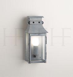 French Plm Wall Lantern, Small