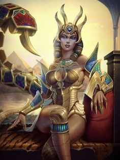 Serket - a scorpion goddess; goddess of fertility, nature, animals, medicine…: