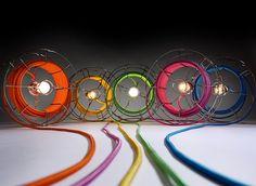 lampade a terra design filo colorata - Cerca con Google