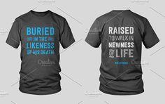 Baptism Shirt Design by Jared Callais on @creativemarket