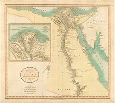 A New Map of Egypt (1805)
