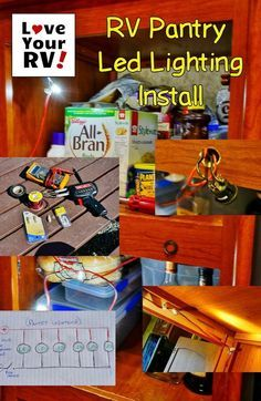 Here is a simple little mod I came up with to install some much needed LED lighting inside our RV pantry cabinet. http://www.loveyourrv.com/adding-led-lighting-rv-kitchen-pantry/ #RV #Mod #LED