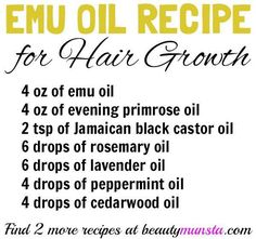 DIY Emu Oil Hair Growth Recipes for Luscious Hair - beautymunsta - free natural beauty hacks and more! hair growth DIY Emu Oil Hair Growth Recipes for Luscious Hair - beautymunsta - free natural beauty hacks and more! Coconut Oil Hair Treatment, Coconut Oil Hair Growth, Coconut Oil Hair Mask, Vitamins For Hair Growth, Healthy Hair Growth, Natural Hair Growth, Hair Growth Recipes, Black Hair Growth, Best Hair Loss Treatment