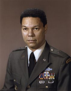 Update Army General Colin Powell  September 21,1989 Army General Colin Powell received Senate confirmation as Chairman of the Joint Chiefs of Staff, the highest military position in the United States, thereby becoming the military's highest-ranking African American. Powell, 52, a four-star general, also became the youngest to serve in this position in the U.S. The Joint Cheifs is the highest military advisory panel to the president.