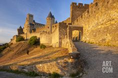 Medieval Town, Fortification, Carcassonne, Languedoc-Roussillon, France Photographic Print by Brian Jannsen at Art.com