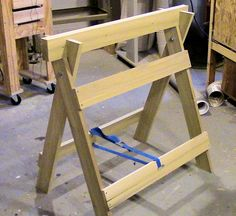 A versatile sawhorse build that doubles as a small workbench. There are 2 drawings of the saw horse at the very end of the video if you care to copy the desi...