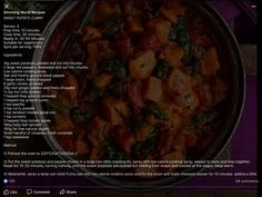 Sweet Potato Curry, Slimming World Recipes, Red Peppers, Vegetarian, Beef, Cooking, Food, Meat, Kitchen