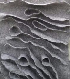 Sculptural Felting with 3D textures resembling organic form; constructed textiles design; surface techniques