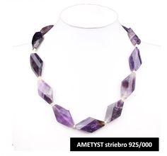 ATLANTIS - strieborný náhrdelník z Ametystu- váha: dĺžka: 50 cm Atlantis, 50th, Jewelry, Jewellery Making, Jewerly, Jewlery, Jewelery, Ornament