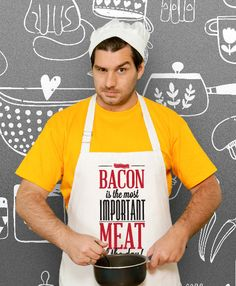 Bacon funny Cooking Apron Husband Awesome Gift Wedding by store365