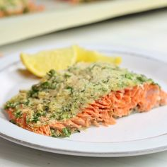 Baked Parmesan Herb Crusted Salmon Easy and flavorful salmon that's ready in no time!Easy and flavorful salmon that's ready in no time! Baked Salmon Recipes, Fish Recipes, Seafood Recipes, Chicken Recipes, Dinner Recipes, Cooking Recipes, Healthy Recipes, Oven Recipes, Salmon Dishes