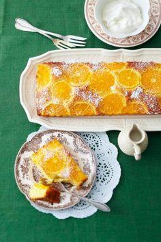 Mandarinenkuchen mit Sahne