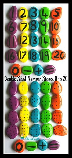 Double-Sided Number Story Stones