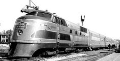 Rock Island Rockets streamlined stainless steel passenger trains introduced in 1937 running routes that included Chicago Minneapolis Peoria Des Moines Kansas City Denver Fort Worth and Houston Rock Island Railroad, Peoria Illinois, Train Posters, Islands In The Pacific, Covered Wagon, History Photos, Diesel Engine, The Rock, Best Funny Pictures