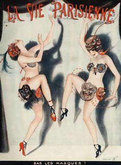 Illustration by Vald 'Es For La Vie Parisienne 1922