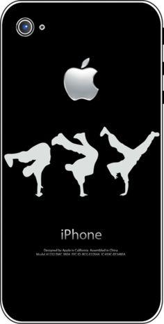 iTattoo.com: Handstand Dancers, iPhone Sticker Decals, $19.99