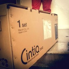 One last step and we have #Wacom #Cintiq 24HD at home.