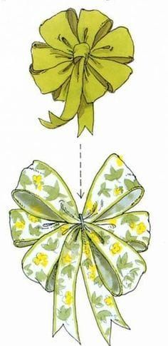 DIY How to make a Layered Bow - save on crafts . A layered bow. is two or many bows layered on top of each other and held together with the. wires from the topmost bow. The wires on the ot. How To Tie Ribbon, How To Make Bows, Ribbon Bows, Ribbons, Ribbon Hair, Save On Crafts, Diy And Crafts, Arts And Crafts, Christmas Bows