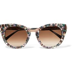 Thierry Lasry Snobby cat-eye acetate and rose gold-tone sunglasses (11 420 UAH) ❤ liked on Polyvore featuring accessories, eyewear, sunglasses, purple, retro cat eye sunglasses, uv protection sunglasses, multi colored sunglasses, uv protection glasses and colorful sunglasses
