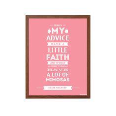 GOSSIP GIRL Mimosas Poster