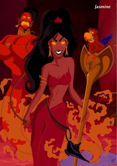 Twisted Disney Jasmine by ~Kasami-Sensei on deviantART