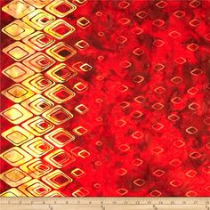 Bali Batiks Handpaints Diamond Border Paprika from @fabricdotcom  Designed for Hoffman International Fabrics, this Indonesian batik is perfect for quilting, craft projects, apparel and home décor accents. This fabric features a double-border of diamonds and measures approximately 10.5''. Colors include shades of yellow, shades of orange and shades of brown.