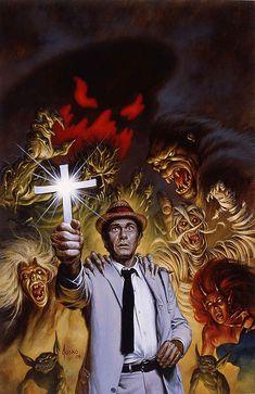 Joe Jusko, Kolchak The Night Stalker art. Retro Horror, Vintage Horror, Vintage Tv, Horror Icons, Cthulhu, Dark Fantasy, Fantasy Art, Horror Artwork, Classic Horror Movies