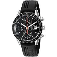 TAG Heuer Men's CV201AK.FT6040 Analog Display Swiss Automatic Black Watch