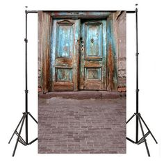 Customize Thin Non-Woven Photography Backdrops Digital Printing Old Door Background for Photo Studio Props
