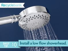 You can cut down on your water usage by installing a low flow showerhead.