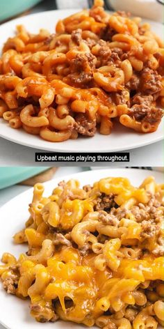 Check out our warm and comforting cheeseburger casserole made with seasoned ground beef, gooey cheddar cheese, and tender elbow noodles! #berlyskitchen Food Dishes, Pasta Dishes, Mexican Food Recipes, Dinner Recipes, Cheeseburger Casserole, Ground Beef Recipes, Recipes With Noodles And Ground Beef, Casseroles With Ground Beef, Beef And Noodles