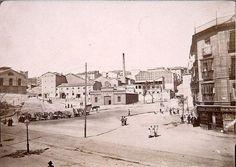 1900. Plaza del Campillo del Mundo Nuevo | por Nicolas1056 Foto Madrid, Monochrome, The Past, Spain, Street View, Journey, In This Moment, Explore, Plaza